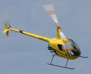 Robinson R22 helicopter is used for training