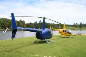 Robinson R44 helicopters