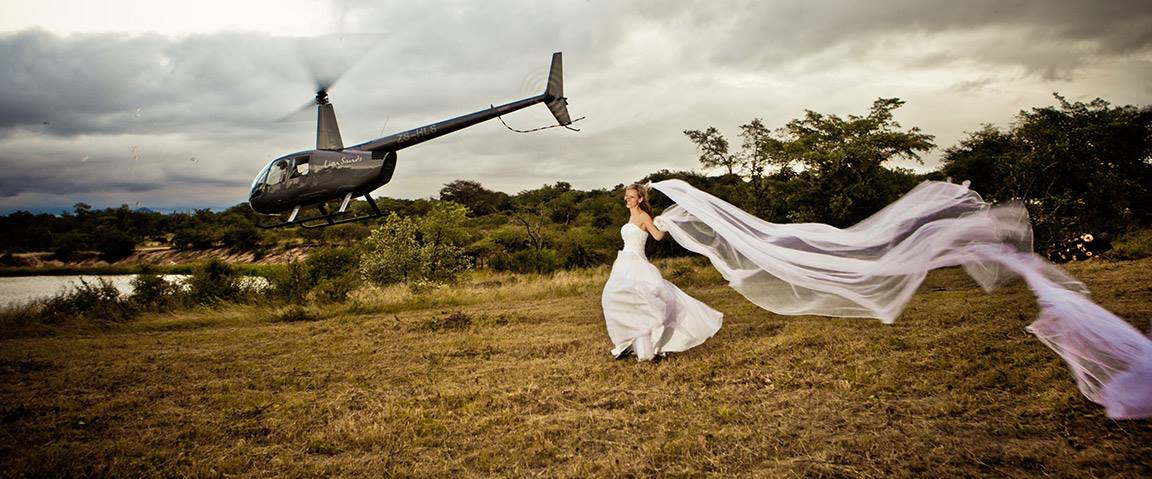 helicopters for weddings