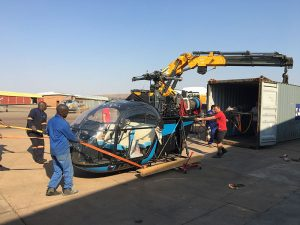 Our Swiss/Italian Alouette arrives in South Africa